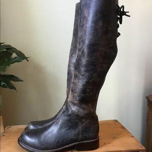 Bed Stu Manchester Black Lux Moto Boot, 8.5